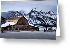 Winter Morning At John Moulton Barn Greeting Card