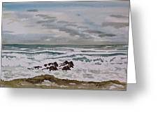 Winter Morning Seascape Greeting Card