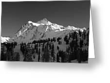 Winter Mountain Monochrome Greeting Card