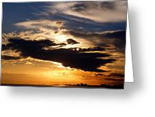 Winter Ocean Sunset At Cherry Grove Beach Greeting Card