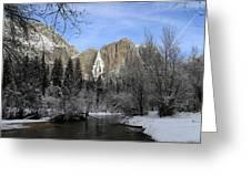Winter Of Yosemite Greeting Card