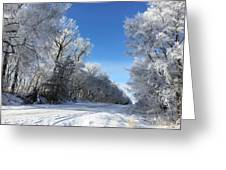 Winter On 210th St. Greeting Card