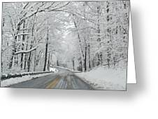 Winter On Buffalo Road Greeting Card