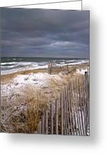 Winter On Cape Cod Sandy Neck Beach Greeting Card