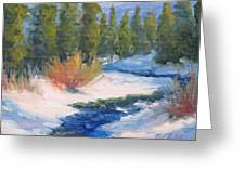 Winter On Gore Creek Greeting Card
