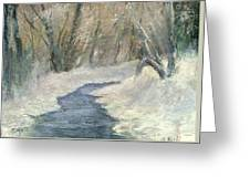 Winter On Stormcreek Greeting Card