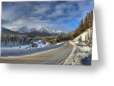 Morant's Curve On The Bow Valley Parkway Greeting Card