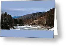 Winter On The Pemi Greeting Card