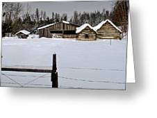 Winter On The Ranch Greeting Card