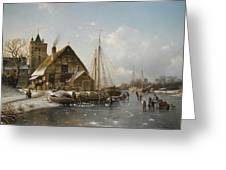 Winter On The Rhine Greeting Card