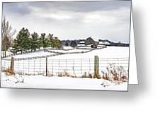 Winter Ontario Farm 3 Greeting Card