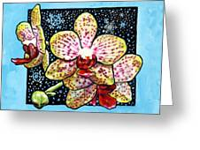 Winter Orchids Greeting Card