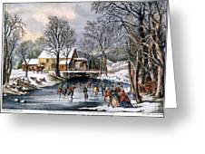 Winter Pastime, 1870 Greeting Card by Granger