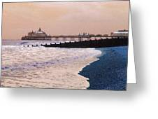 Winter Pier Greeting Card