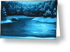 Winter Pond Greeting Card