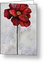 Winter Poppy II Greeting Card
