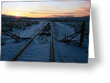 Winter Rails 1 Greeting Card