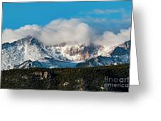 Winter Receding On Pikes Peak Greeting Card