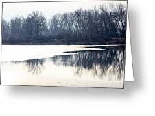 Winter Reflection On The Yakima River Greeting Card