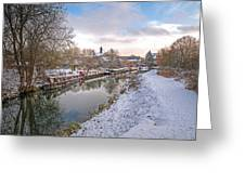 Winter Reflections On The River Greeting Card
