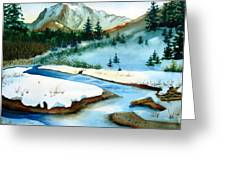 Winter Retreating Greeting Card