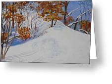 Winter Ridge Greeting Card