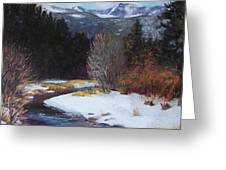 Winter River Bend Greeting Card