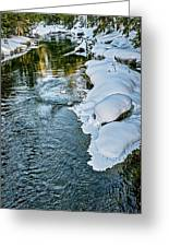 Winter River Reflections - Yellowstone Greeting Card
