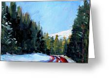 Winter Road Trip Greeting Card