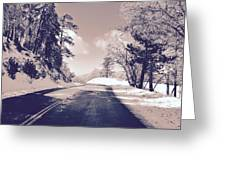 Winter Roads Greeting Card