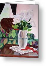 Winter Roses Greeting Card