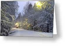 Winter Scene 5 Greeting Card