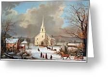 Winter Scene, C1875 Greeting Card