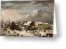 Winter Scene In Brooklyn Greeting Card