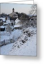 Winter Scene In North Wales Greeting Card