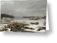 Winter Scene In Pennsylvania Greeting Card