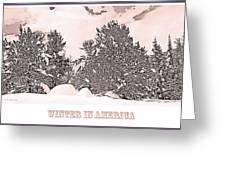 Winter Scene In The Colorado Rockies Greeting Card