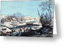 Winter Scene: Morning 1854 Greeting Card