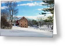 Winter Scene On A Pennsylvania Farm Greeting Card