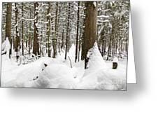 Winter Scene Print Greeting Card