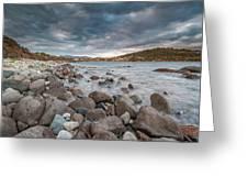 Winter Sea In Porto Frailis Greeting Card