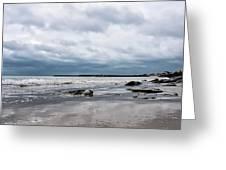 Winter Seascape 2 - Lyme Regis Greeting Card