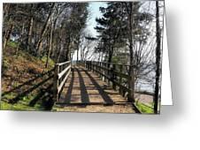 Winter Shadows At The Bridge Greeting Card