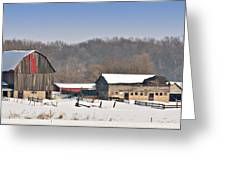 Winter Shed And Barn Greeting Card