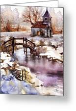 Winter Shelter Greeting Card