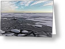 Winter Shoreline Greeting Card