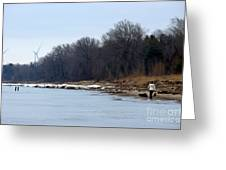 Winter Shoreline Walk  Greeting Card