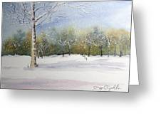 Winter Silence Greeting Card