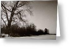 Winter Silo Greeting Card