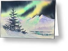 Winter Skylights Greeting Card